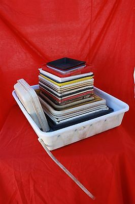 Lot of Aprox. 25 Darkroom Photo development chemical trays fixer, developer,