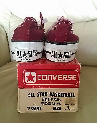 Deadstock Made In Usa Vintage 80 Converse All Star Maroon Canvas 4 Usa