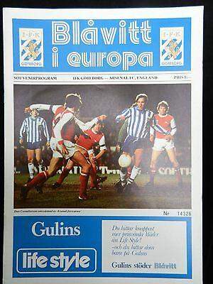 Signed By 8 Arsenal Ifk Goteborg V Arsenal1979-1980 European Cup-Winner's Cup