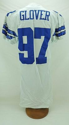 La'Roi Glover 2002 Dallas Cowboys Home Game Worn football NFL Jersey Pounded