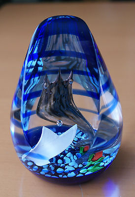 Stunning Caithness Crystal limited edition Beauty and the Beast paperweight