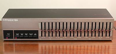 Audio Control Graphic Equalizer Model Ten 10 Band - Pewter Finish - Made in USA