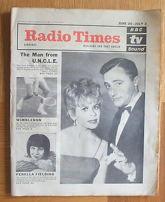Radio Times June 26th-July 2nd 1965 Midlands & East Anglia ed.-Man from Uncle