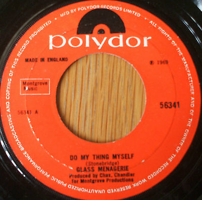 """Glass Menagerie-Do my thing myself 7"""" Single 1969 Psych"""
