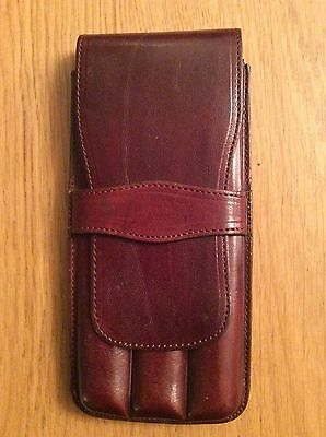 Brown Leather Cigar Case