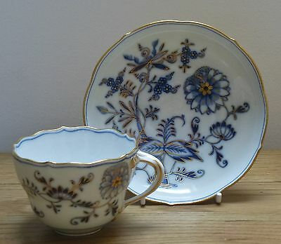 Meissen Cup and Saucer Onion Pattern c1900