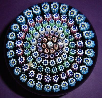 """Perthshire Crieff Scotland  Xxl 6 Row """"concentric Stag Millefiori Paperweight"""""""