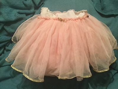 Tutu Age 2/3 Pink With Gold Trim Perfect For Christmas