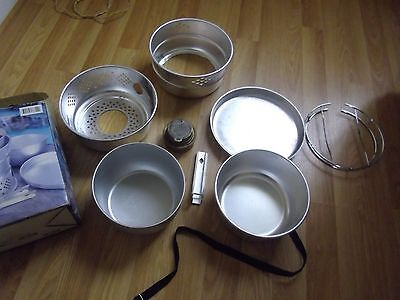 Brass Alcohol Stove Cooker Pans Camping -  Fishing Trangia Style