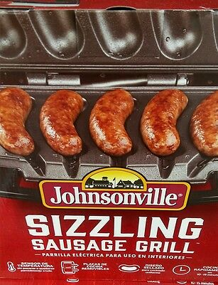 Johnsonville Sausage Electric Grill Indoor Kitchen Cooker Warmer Party Grilling