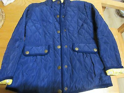 Girls Blue Quilted Jacket Age 9-10 Next
