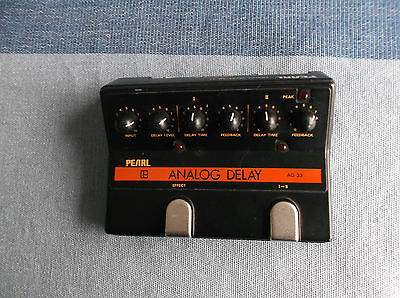 Pearl  AD-33 vintage  analog delay  pedal