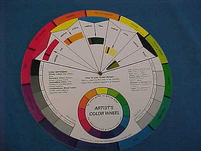 "artist`s 9 1/4"" COLOR WHEEL by The Color Wheel Co. 1989"