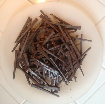 "Vintage Lot of 103 Square Nails 3"" Long (2 Lbs.)"