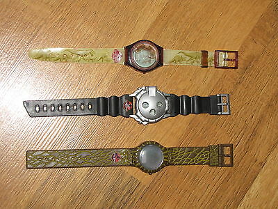 Lot Of 3 Original Jurassic Park Watches Movie Promo Burger King Collectible