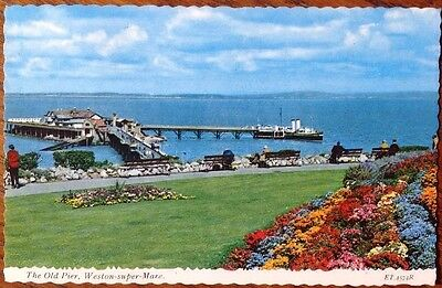 Somerset Postcard The Old Pier Weston Super Mare 1982 England Seaside