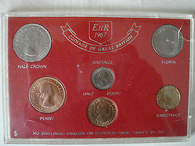 Coins  Of  Great  Britain  Type  Set  1967..
