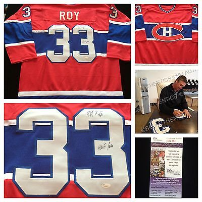 Patrick Roy Montreal Canadiens Signed Autograph Red NHL Hockey Jersey JSA L04404