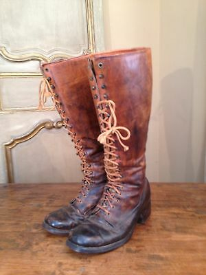 1950's VINTAGE FRYE ENGINEERING MOTORCYCLE RIDING BOOTS MEN'S 10 BLK LABEL!