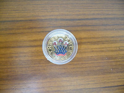 George Vi Gold Plated Threepence Colour Coin