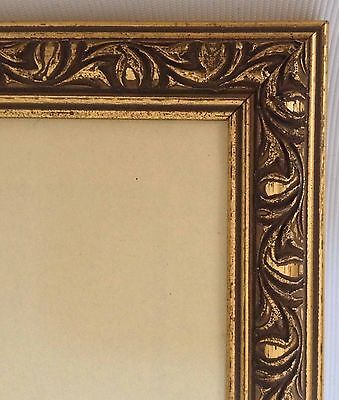 """Vintage Style Gold Photo Picture Frame Holds Photo 10x10"""""""