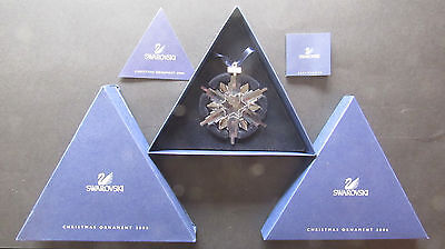 Swarovski Annual Christmas Star for 2006, complete with Boxes and Certificates.