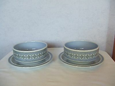2 x Hornsea Tapestry soup bowls with saucers VGC Vintage Retro 3 of 3
