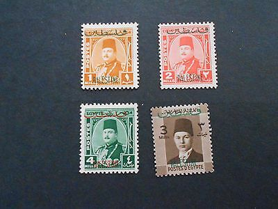PALESTINE 4 Mint Never Hinged Stamps