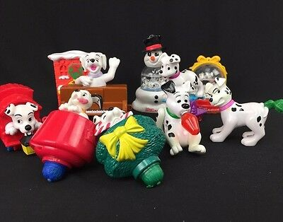 Lot of 10 McDonalds 101 Dalmations Toys Action Figures Christmas Snow Globes