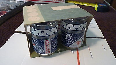 FOUR PACK Apollo 13 Moon Mission 11oz Drinking Glasses