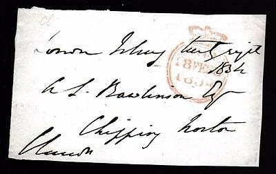 GB 1834 Free Frank Front signed CHANDOS (Marquess) MP for Buckinghamshire