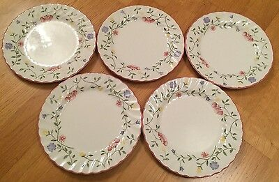 "JOHNSON BROTHERS ""Summer Chintz"" 5 x side plates - 6.75 inch diameter"