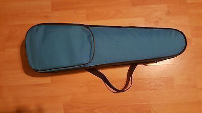 violin 1/2 size blue case with bow.
