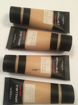 L'Oreal Infallible 24H Matte Foundation - 12 Natural Rose 40ml (4 x10ml)