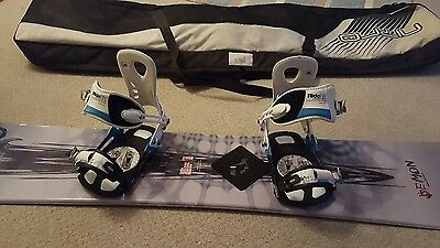 Wide snowboard with Ride RX bindings grab a bargain