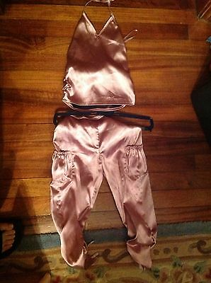 Pink Satin Trousers And Top Age 6