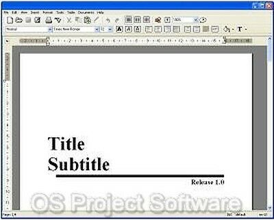 Word Processor Software for MS Windows 2010 NEW Software Program on CD