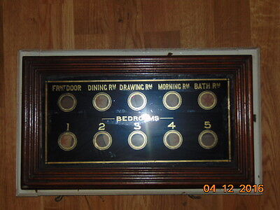 Victorian Butlers , Servants Country House Bell Box 10 Room Calling System