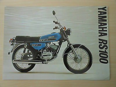 VINTAGE YAMAHA RS100 Motorcycle Sales Sheet Brochure and Specifications