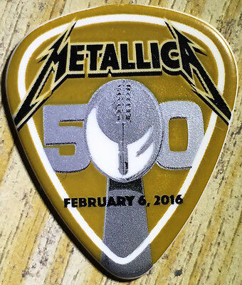 METALLICA guitar pick - night before - Super Bowl - no promo - authentic - rare