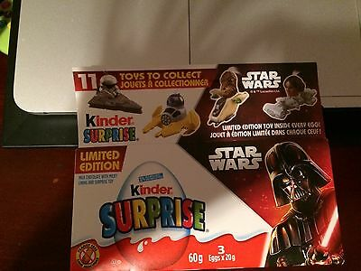 Star Wars Kinder Eggs; Set: 4. Papers; Canadian 3 pack box, 2016; Hang Ornament!