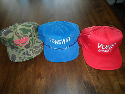 Three (3) Vons Grocery Store  Bakery Hats