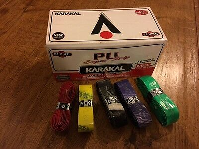 Karakal PU Super Replacement Grips x 24 Multi  (actually 22 in this box)