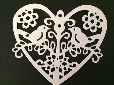 10 White Heart Die Cuts Ideal for Weddings/anniversaries/Valentines cards