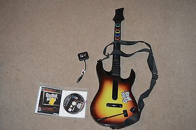 Guitar Hero 5 with guitar and dongle, Sony PlayStation 3