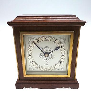 Beautiful Elliott Mahogany 8 Day Mantel Clock Platform Escapement Bull Bedford
