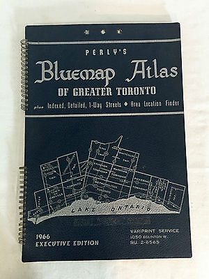 Perry's Bluemap Atlas of Greater Toronto 1966