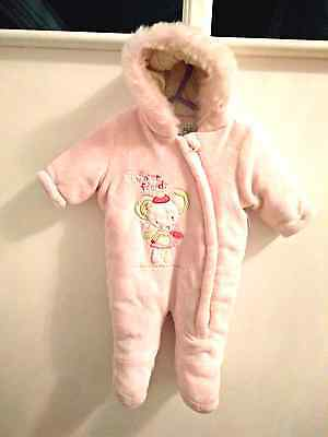 Baby girls' pink snowsuit 0-3 months