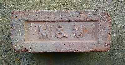 Antique Vintage M&M Brick Historical Architectural New York