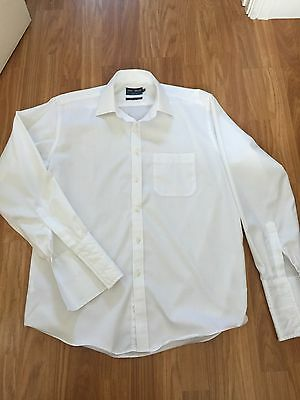 Marks & Spencer Tailoring. White Business Shirt. 16 Collar